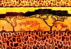 Paesaggio della savanna illustrazione di stock