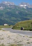 Paesaggio della Savoia nel passaggio di Roselend, Francia Fotografia Stock Libera da Diritti