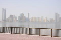 Paesaggio della Sharjah Corniche Immagini Stock