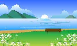 Paesaggio della sorgente illustrazione vettoriale