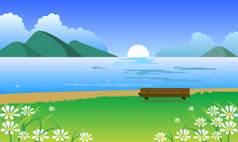 Paesaggio della sorgente illustrazione di stock