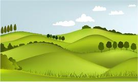 Paesaggio della sorgente della montagna Immagini Stock Libere da Diritti