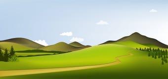 Paesaggio della sorgente della montagna Immagine Stock Libera da Diritti