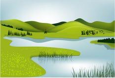 Paesaggio della sorgente della montagna Fotografia Stock Libera da Diritti