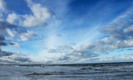 Paesaggio della spiaggia Fotografia Stock