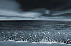 Paesaggio della spiaggia Immagini Stock Libere da Diritti
