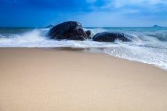 Paesaggio della spiaggia dell'isola di turismo Fotografia Stock