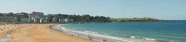 Paesaggio della spiaggia di EL Sardinero Fotografia Stock Libera da Diritti