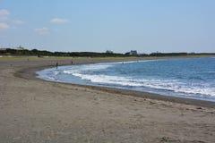 Paesaggio della spiaggia di estate Immagine Stock