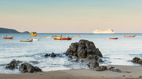 Paesaggio della spiaggia di Kalim, Phuket, Tailandia Fotografia Stock