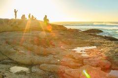 Paesaggio della spiaggia di Noordhoek Fotografia Stock