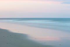 Paesaggio della spiaggia di sera su Cape Cod Fotografia Stock Libera da Diritti