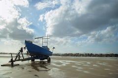 Paesaggio della spiaggia di Sironit, Natanya, Israele Immagini Stock Libere da Diritti