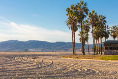 Paesaggio della spiaggia di Venezia, Los Angeles Immagini Stock Libere da Diritti