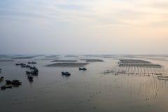 Paesaggio della spiaggia di Xiapu al crepuscolo Immagine Stock