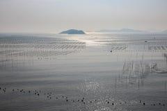 Paesaggio della spiaggia di Xiapu al crepuscolo Fotografia Stock