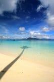 Paesaggio della spiaggia tropicale Fotografia Stock