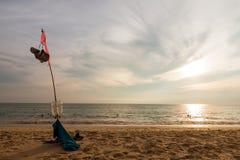 Paesaggio della spiaggia tropicale Immagini Stock Libere da Diritti