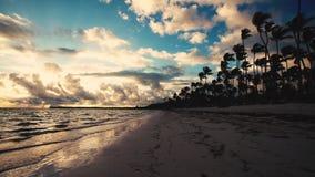 Paesaggio della spiaggia tropicale Punta Cana, Repubblica dominicana dell'isola video d archivio