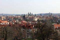 Paesaggio della st Vitus Cathedral Fotografie Stock Libere da Diritti