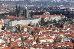 Paesaggio della st Vitus Cathedral dalla collina di Penrin Fotografia Stock Libera da Diritti