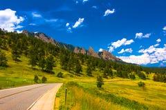 Paesaggio della strada dal centro nazionale per ricerca atmosferica Immagini Stock