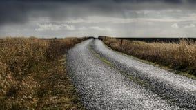 Paesaggio della strada dell'Islanda fotografie stock libere da diritti