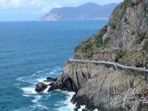 Paesaggio della strada di amore in Cinque Terre, Italia Immagini Stock Libere da Diritti