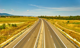 Paesaggio della strada principale Fotografie Stock Libere da Diritti