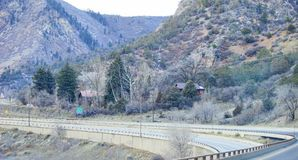 Paesaggio della strada principale di Colorado Fotografie Stock Libere da Diritti