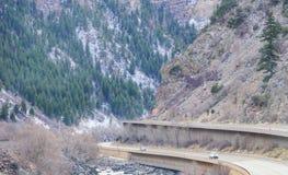 Paesaggio della strada principale di Colorado Immagine Stock
