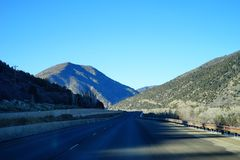 Paesaggio della strada principale di Colorado Fotografia Stock