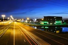 Paesaggio della strada principale di sera Fotografie Stock