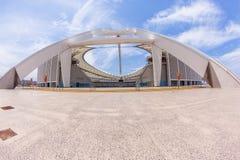 Paesaggio della struttura dell'entrata dello stadio di football americano Fotografie Stock