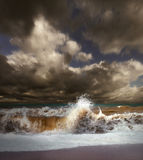 Paesaggio della tempesta del mare Immagini Stock