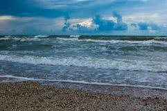 Paesaggio della tempesta del mare Fotografie Stock