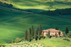 Paesaggio della Toscana - belvedere Fotografie Stock Libere da Diritti