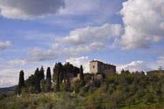 ? di Podere (Toscana) immagine stock
