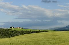 Paesaggio della Toscana, Italia, Europa immagini stock libere da diritti