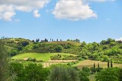 Paesaggio della Toscana, Toscana, Italia Fotografie Stock Libere da Diritti