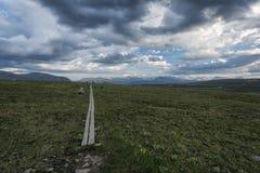 Paesaggio della tundra in Svezia del Nord Immagini Stock