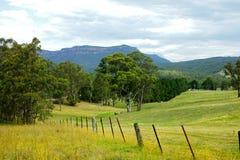 Paesaggio della valle della montagna, Australia Fotografie Stock Libere da Diritti