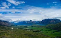 Paesaggio della valle della Nuova Zelanda Fotografia Stock