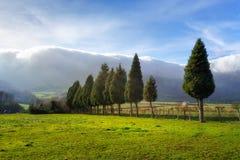 Paesaggio della valle di Ayala fotografie stock