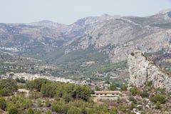 Paesaggio della valle di guadalest Fotografia Stock Libera da Diritti