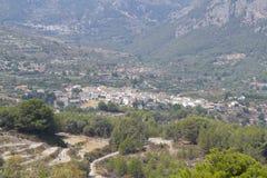 Paesaggio della valle di guadalest Fotografia Stock
