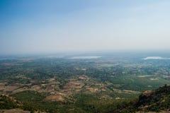 Paesaggio della valle di Nimar nel distretto di Dhar fotografia stock libera da diritti