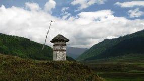 Paesaggio della valle di Phobjikha Immagine Stock