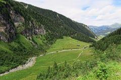 Paesaggio della valle di Zillertal in Tirolo Alpi europee Austria dentro Fotografia Stock Libera da Diritti