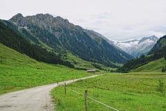 Paesaggio della valle di Zillertal in Tirolo Alpi europee Austria dentro Fotografie Stock Libere da Diritti